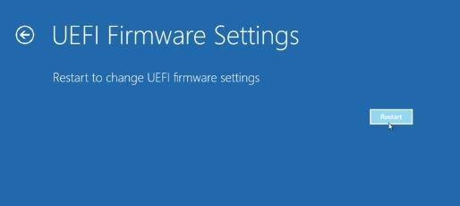 Cách mở cài đặt UEFI trên Windows 10