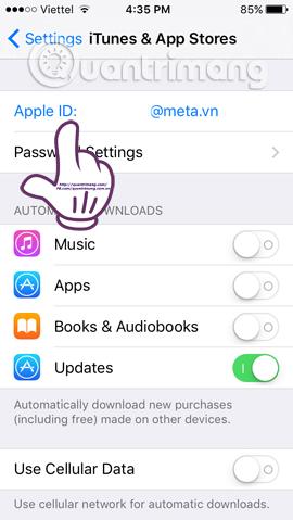 Cách đổi vùng Quốc gia tài khoản App Store