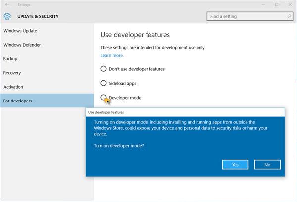 Chế độ Developer Mode trên Windows 10 là gì? Làm thế nào để kích hoạt chế độ này?