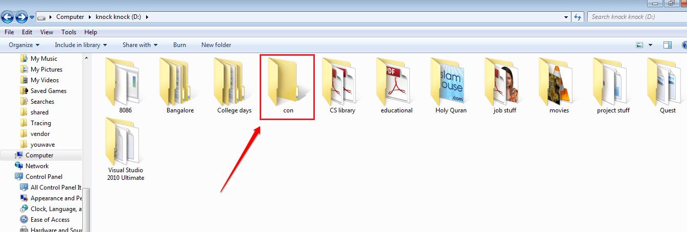 """Sử dụng CMD để tạo một thư mục """"không thể xóa"""" trên Windows"""