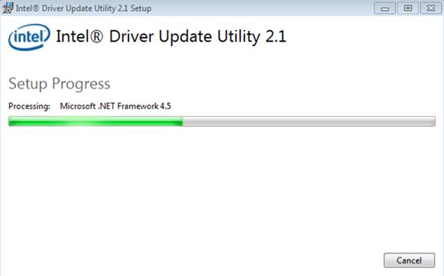 Chờ Intel Driver Update Utility chạy