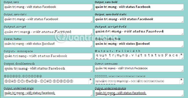 Cách viết chữ hiệu ứng độc đáo, chữ in đậm, nghiêng, gạch chân lên status Facebook, bình luận FB - Ảnh minh hoạ 8