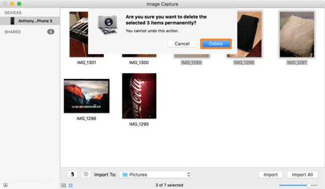 Cách sử dụng Image Capture trên Mac để quản lý ảnh trên iPhone/iPad