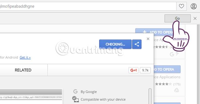 Cách cài đặt tiện ích Chrome trên trình duyệt Opera