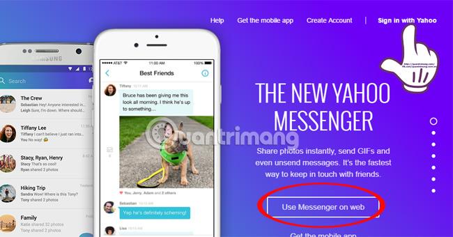 Cách sử dụng Yahoo Messenger phiên bản mới không cài đặt phần mềm