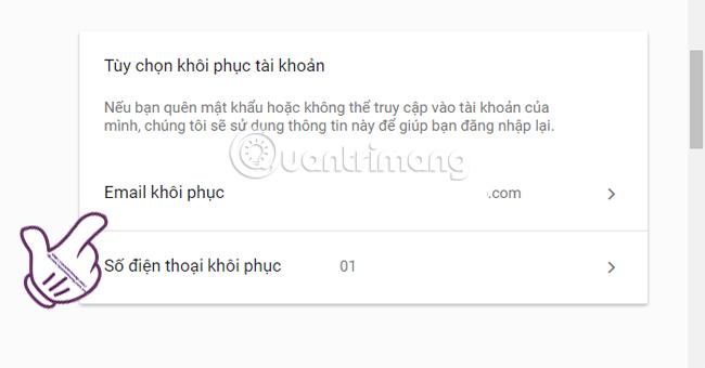 bảo mật tài khoản Google