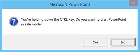 nhấn và giữ phím Ctrl sau đó click chuột vào ứng dụng Word 2010/2013