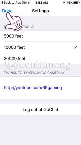 Cách sử dụng ứng dụng GoChat trong Pokémon GO