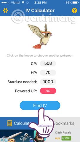 Cách check IV chỉ số tiềm năng cho Pokemon trên iOS và PC