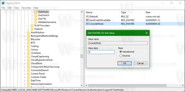 Cách kích hoạt Console Login ẩn trên Windows 10