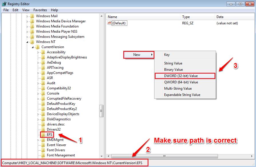 3 cách đơn giản kích hoạt/vô hiệu hóa Encrypting File System