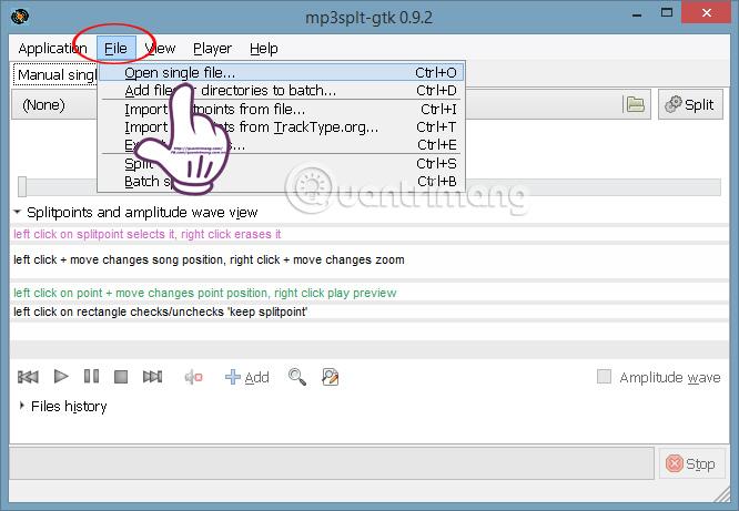 Hướng dẫn cắt file âm thanh bằng phần mềm Mp3splt