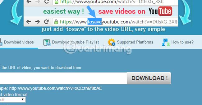 tải toàn bộ Playlist Video trên Youtube