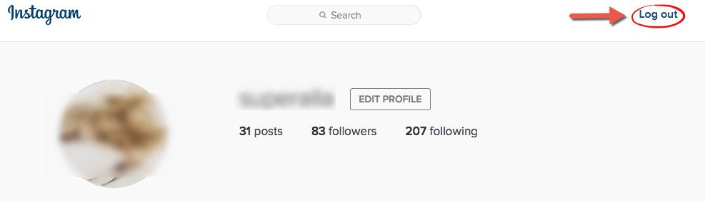 Đăng xuất tài khoản Instagram
