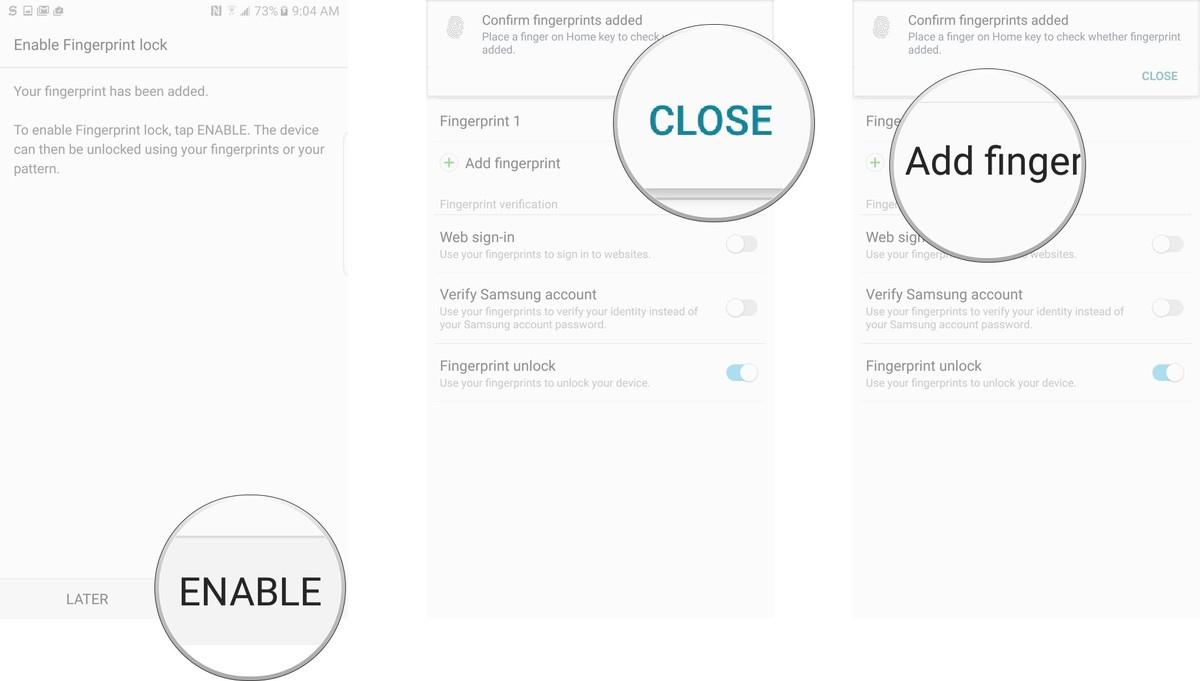Cách thiết lập dấu vân tay trên Samsung Galaxy Note 7