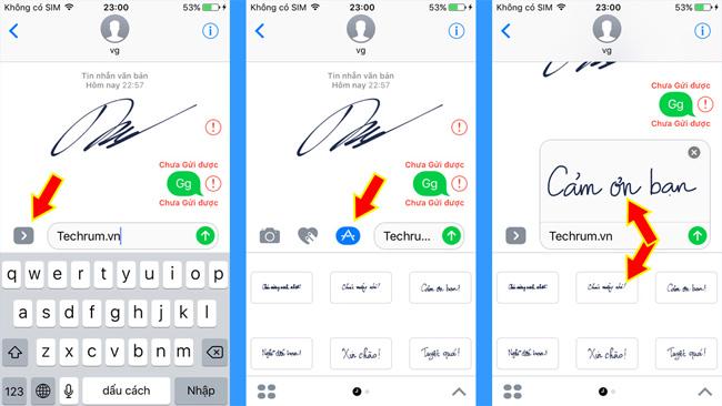 Hướng dẫn gửi tin nhắn bằng chữ viết tay trên iOS 10
