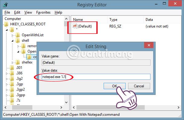Cách add Open With Notepad vào menu chuột phải