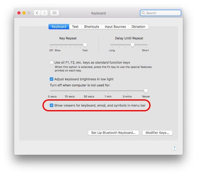 Hướng dẫn sử dụng các biểu tượng ẩn trên bàn phím Mac