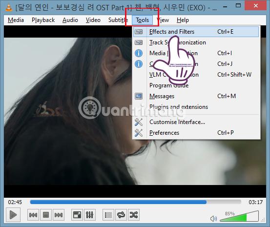 Hướng dẫn xoay video bị ngược, nghiêng bằng VLC Media Player