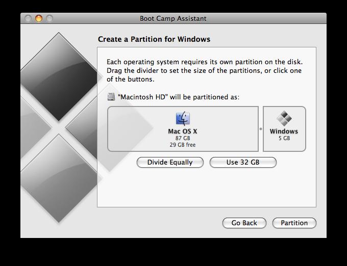 Các bước cài đặt Windows 7 trên Mac bằng Boot Camp