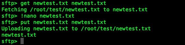 Sử dụng Terminal trên Mac làm FTP hoặc SFTP Client