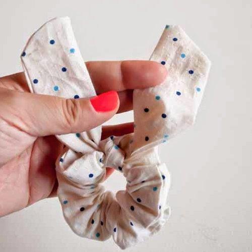 Complete bunny ears elastic hair tie