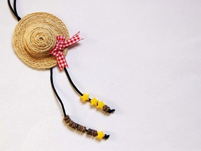 Hoàn chỉnh chiếc móc chìa khóa hình mũ cói