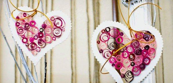 Handmade heart card