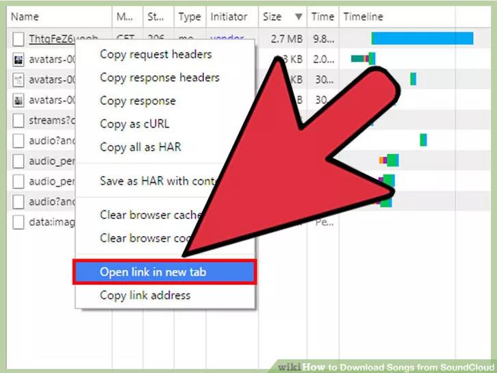 Kích chuột phải vào file và chọn Open in a new tab