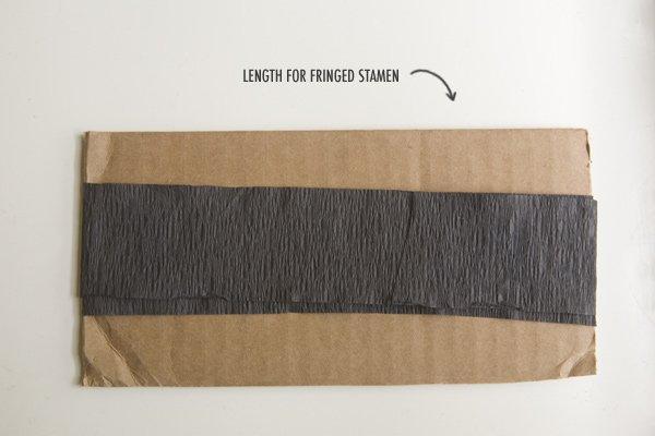 Cut paper to make stamens