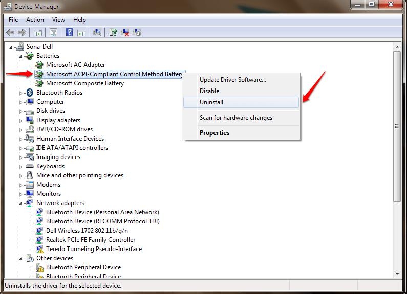 Sửa nhanh lỗi laptop Windows 10 sạc pin không vào