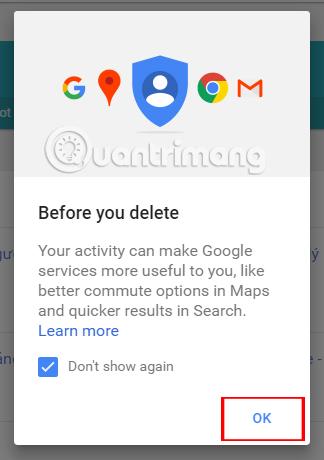 Hướng dẫn xóa vĩnh viễn lịch sử Google