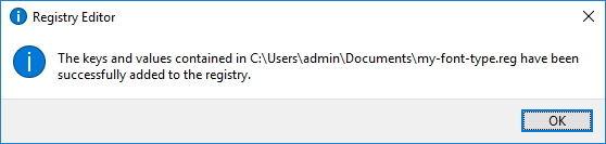 Click chọn OK để thay đổi Registry