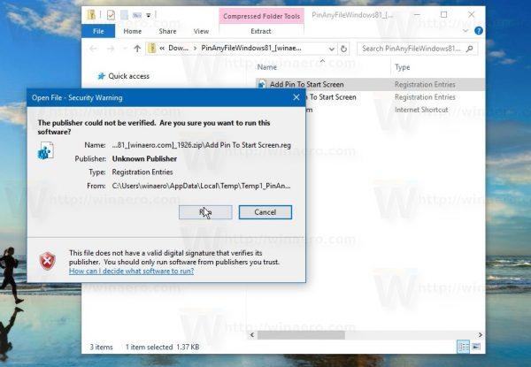 Cách ghim 1 file bất kỳ vào Start Menu trên Windows 10