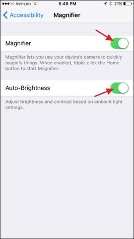 Bạn đã thử dùng tính năng kính lúp trên iOS 10 hay chưa?