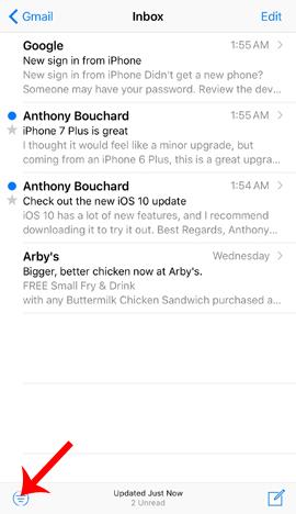 Cách tăng tốc độ tìm kiếm email trên iOS 10