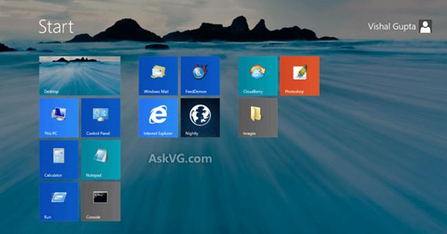 Thiết lập ảnh nền Desktop làm ảnh nền màn hình Start Screen trên Windows 8.1