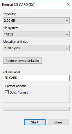 "Phải làm gì khi xảy ra lỗi ""Android unable to format SD card"" ?"