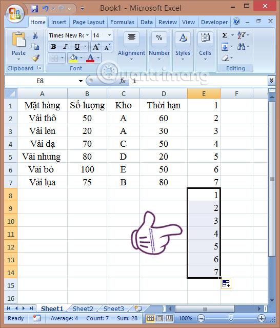 Hướng dẫn thêm dòng trống xen kẽ trong Microsoft Excel