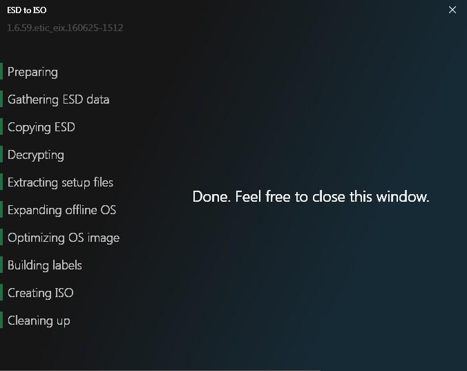 Hướng dẫn cách chuyển file ESD sang ISO cài Win XP,7,8,10