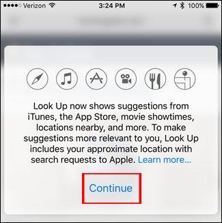 Look Up trên iOS 10 có thể tìm kiếm thông tin nhanh như thế nào?