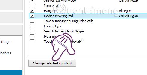 Hướng dẫn thiết lập phím tắt trên Skype