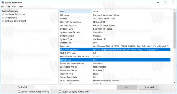 Hiển thị thông tin BIOS trên Windows 10 bằng Command Prompt