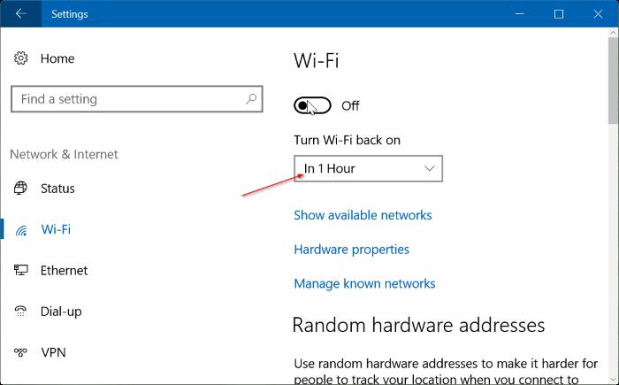 Hẹn giờ tự động bật Wifi sau1 giờ, 4 giờ hoặc 1 ngày trên Windows 10
