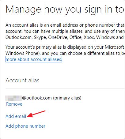 Cách thay đổi địa chỉ email chính cho tài khoản Microsoft