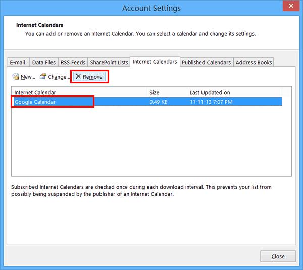Các bước tích hợp Google Calendar vào Outlook 2013