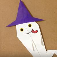Cách gấp con ma Halloween bằng giấy origami đơn giản
