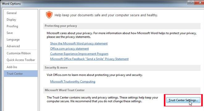 Hướng dẫn tắt tính năng Protected View trong Office 2013