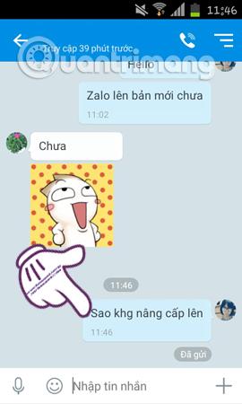 Thu hồi tin nhắn Zalo ...