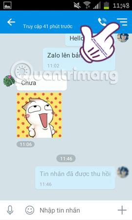 Thu hồi tin nhắn Zalo